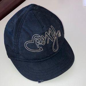 Roxy Black Distressed Brim Baseball Hat